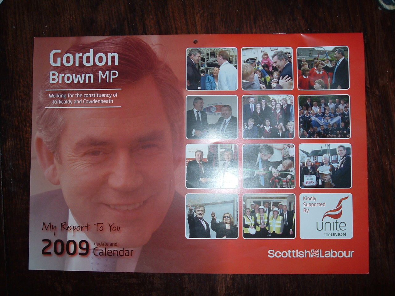Gordon Brown calendar