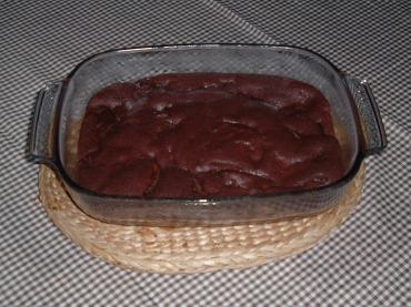 Peachy Chocolate Bake