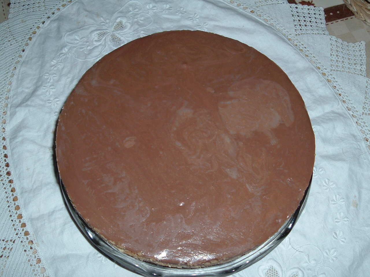 Peanut and chocolate tart