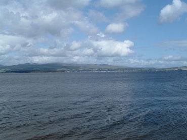 View from Greenock across the Clyde to Helensburgh